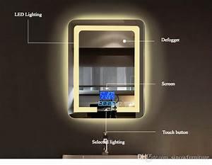 2018 Bathroom Wall Mount Lighting Led Vanity Mirror With