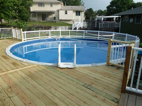 Above Ground Pool With Walk Around Deck