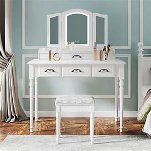 Rosdorf, Park, Makeup, Vanity, Table, Set, With, Tri
