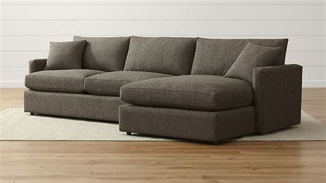 crate and barrel lounge sofa ottoman lounge ii shallow sectional sofa crate and barrel