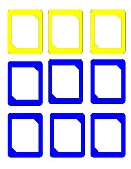 blank card uno  template  secondgrade tpt