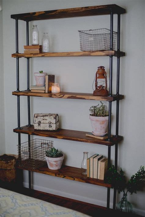 3 Foot Wide Bookshelf by This Industrial Inspired Bookshelf Sits 7 Fall And 4