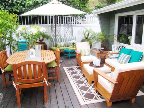 deck furniture layout ideas outdoor rooms small outdoor