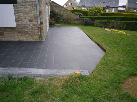 remplacement d une terrasse bois par une terrasse b 233 ton avec agrandissement et de murets