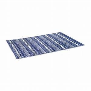 jobi tapis d39exterieur 120x180 bleu habitat With tapis exterieur avec housse canapé bleu