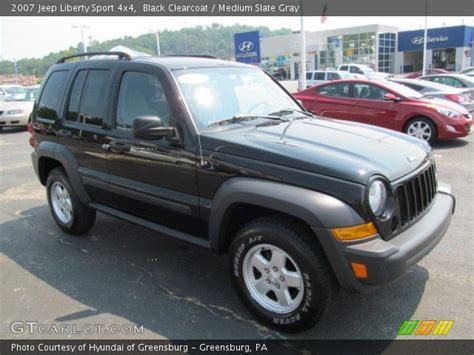 black jeep liberty interior black clearcoat 2007 jeep liberty sport 4x4 medium