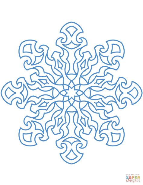 Snowflake Coloring Page Snowflake Coloring Page Free Printable Coloring Pages