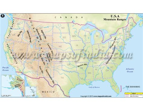 map of mountain ranges map of mountain ranges in america 28 images rivers in the united states map cruise guide u