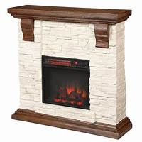 electric stone fireplace Fireplace TV Stands - Electric Fireplaces - The Home Depot