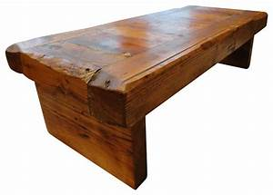 old growth coffee table 4 inch thick top 30 x 48 rustic With thick wood coffee table