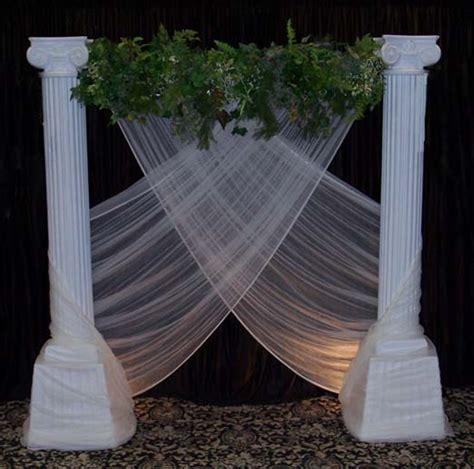 decorating columns wedding backdrops backgrounds decorations columns