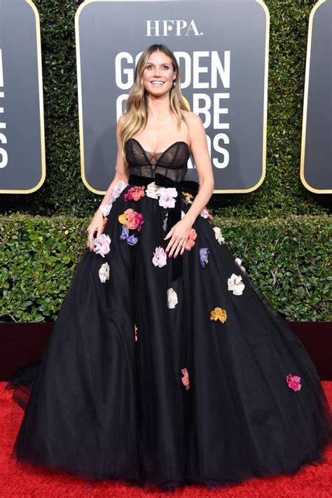 Heidi Klum The Golden Globes Red