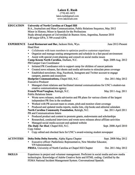 resume address or not resume laken