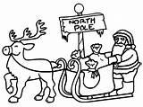 Coloring Pole North Santa Printables Printable Hubpages Sleigh Animal Makinbacon Habitat sketch template