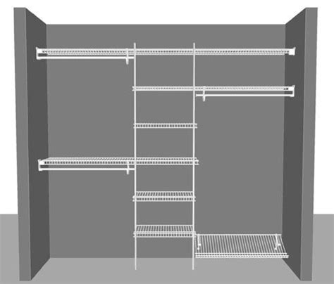Wire Closet Shelving Closetmaid by Closetmaid Closetmaid Wire Shelving Wardrobe