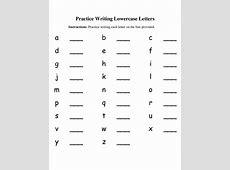 Lowercase Letters Worksheet Kiddo Shelter
