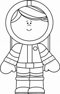 Astronaut Clip Art Black and White (page 4) - Pics about space