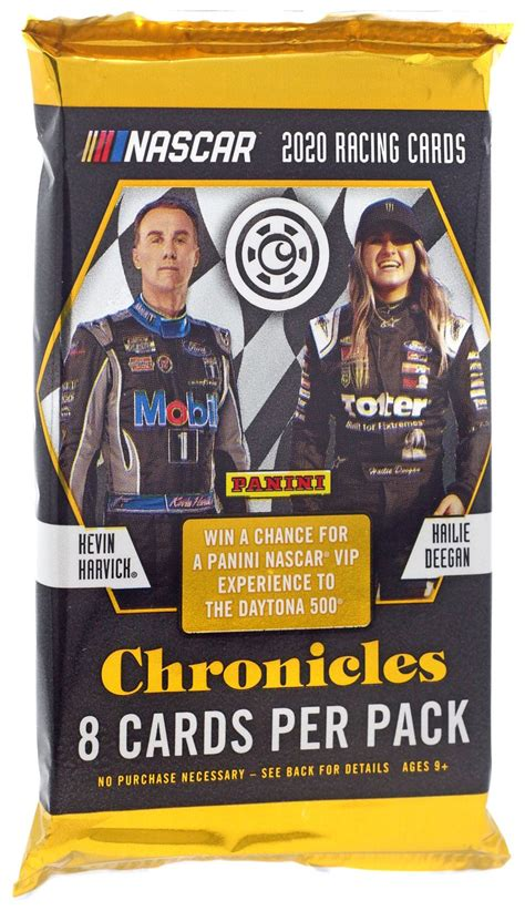 Gaining fans and followers with each passing decade, nascar has brought us some of the most exciting and recognized series of the year, including the sprint cup series and the xfinity series. NASCAR Panini 2020 Chronicles Racing Trading Card Hobby Pack - Walmart.com - Walmart.com