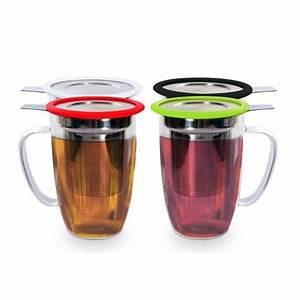 Mug Infuseur Thé : mug tastea avec filtre infuseur rouge ~ Teatrodelosmanantiales.com Idées de Décoration