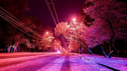 Winter Photoshop Snow Background Road 1080p Fhd