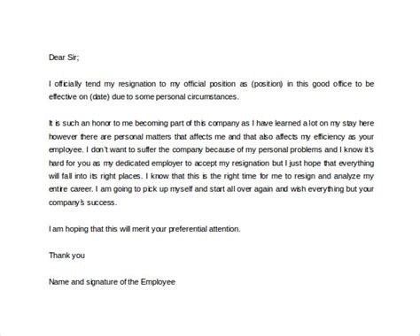 Formal Format Of Resignation Letter by 41 Formal Resignation Letters To For Free