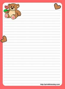 nice teddy bear writing love letter paper stationery for With nice letter paper