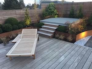 Eclairage Terrasse Bois : terrasses en bois sur toit mt design ~ Melissatoandfro.com Idées de Décoration
