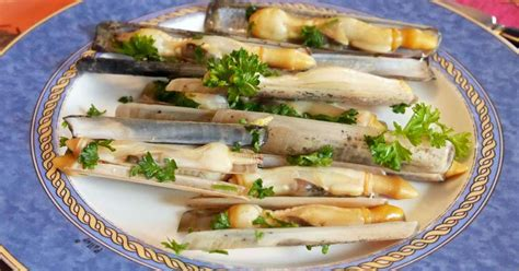 recette cuisine bretonne couteaux à la plancha recette par turbigo gourmandises