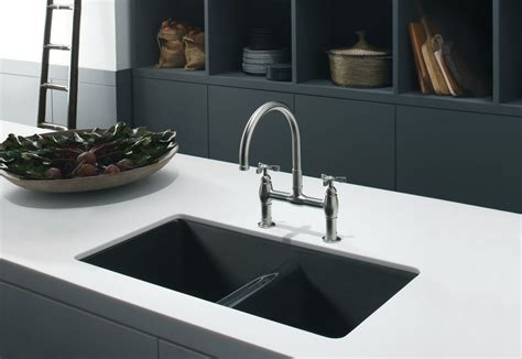 Composite Kitchen Sinks Kblack And White Kitchen Themed