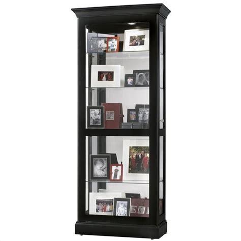black curio cabinet howard miller berends curio cabinet in black satin 680477