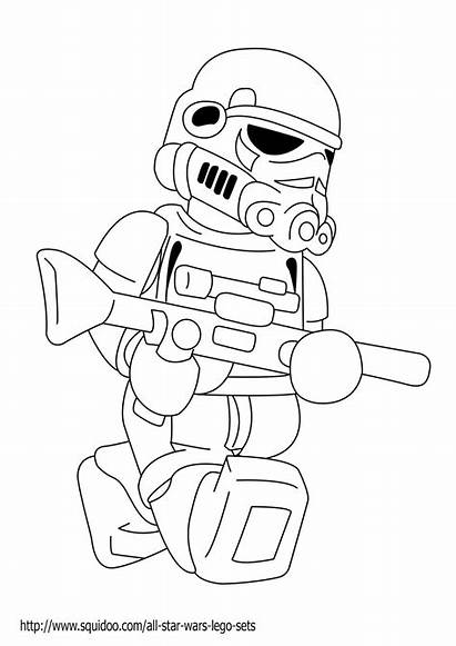 Wars Coloring Lego Star Pages Characters Printable