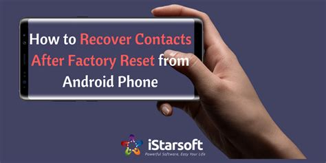How To Recover Contacts After Factory Reset From Android Phone