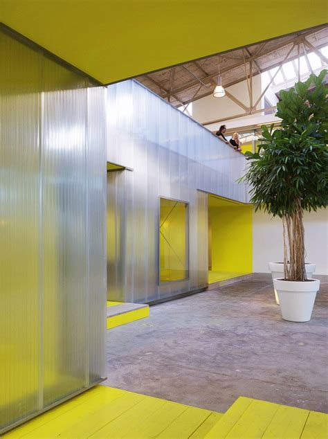 office plant steel offices ector architecture into interior hoogstad imd architecten designboom archilovers converts polycarbonate panels polycarbonat architects architizer projects