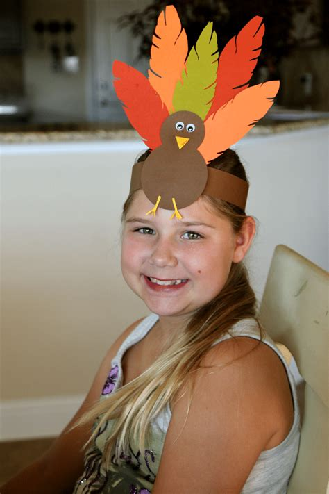 turkey hat thanksgiving headband craft  kids