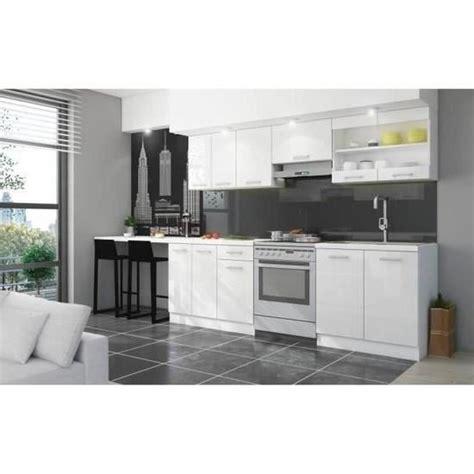 achat plan de travail cuisine jasny cuisine complète l 2m40 avec plan de travail blanc brillant achat vente cuisine