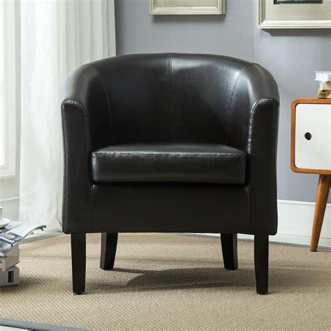 new brown modern pu leather tub barrel club arm chair seat