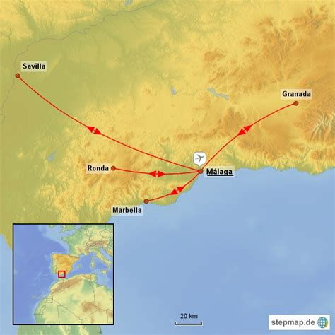 Andalusien Karte Spanien