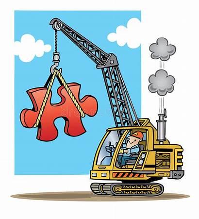 Crane Construction Lifting Puzzle Piec Puzzlespiel Sollevamento