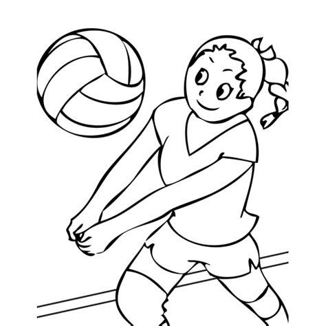 disegno di una ragazza da colorare disegno di la ragazza della pallavolo da colorare per