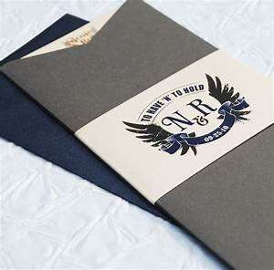Rock n roll to have and to hold wedding invitation for Wedding invitations jacket pocket