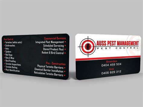 construction business card design  auss pest management