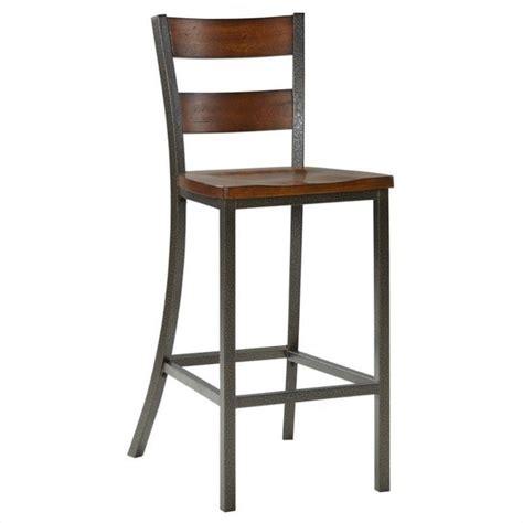 home styles cabin creek  bar stool  multi step chestnut