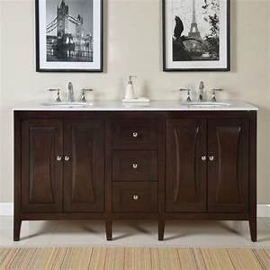 68 inch modern double bathroom vanity with a carrara white With 68 inch bathroom vanity