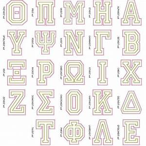 59 best images about greek alphabet on pinterest machine With sorority embroidered letters