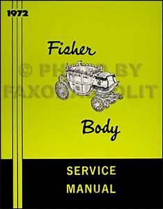 1972 Pontiac Body Repair Shop Manual Reprint