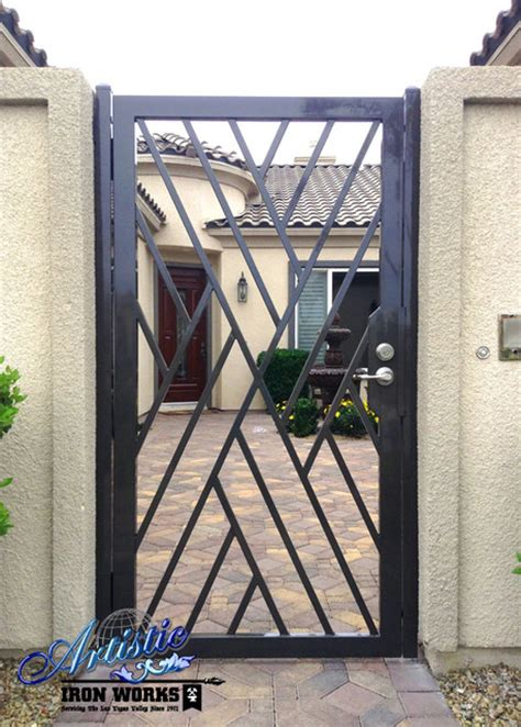 wrought iron gates modern entry las vegas