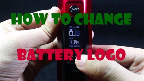 How To Change Battery Logo To Percentage On Wismec