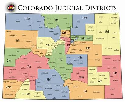 Colorado Map Districts Judicial County Court District