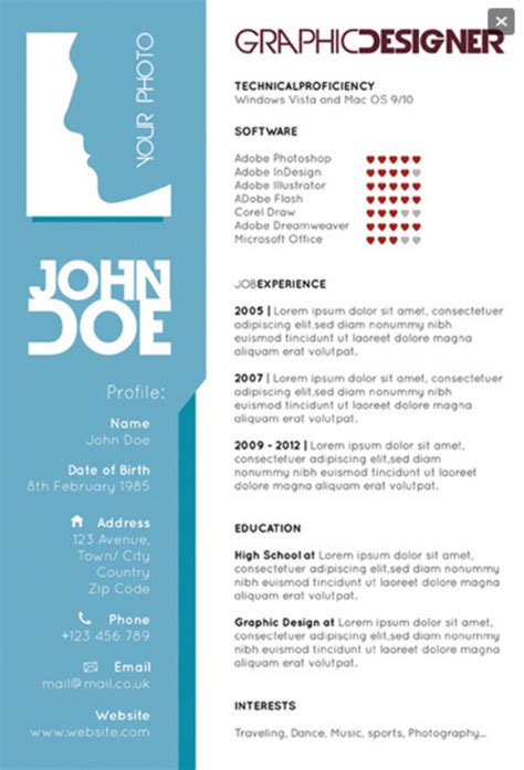 Graphic Design Resume Template by Graphic Designers Single Page Resume Creative Resume