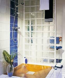 la rochere architecture du verre briques de verre With salle de bain brique de verre